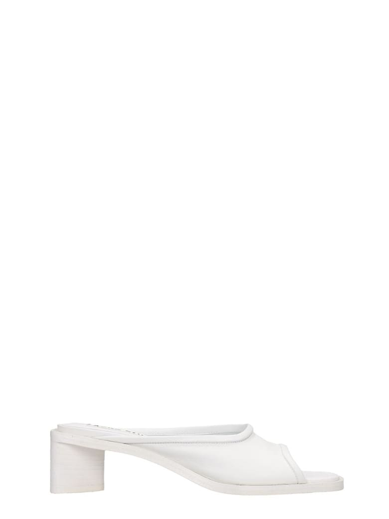 Acne Studios Bessy Flats In White Leather - white