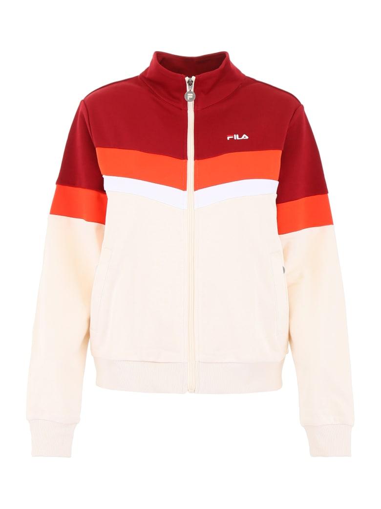 Fila Nantale Track Jacket - RHUBARB WHITECAP GRAY FIESTA BRIGHT WHITE (Red)