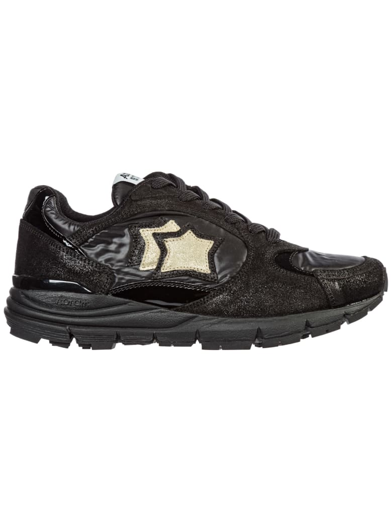 Atlantic Stars  Shoes Leather Trainers Sneakers Mira - Nero