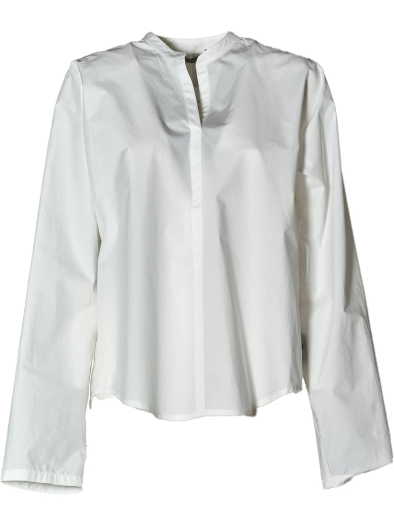 Sofie d'Hoore Lslv Shirt With Stand Up Collar - Woven White