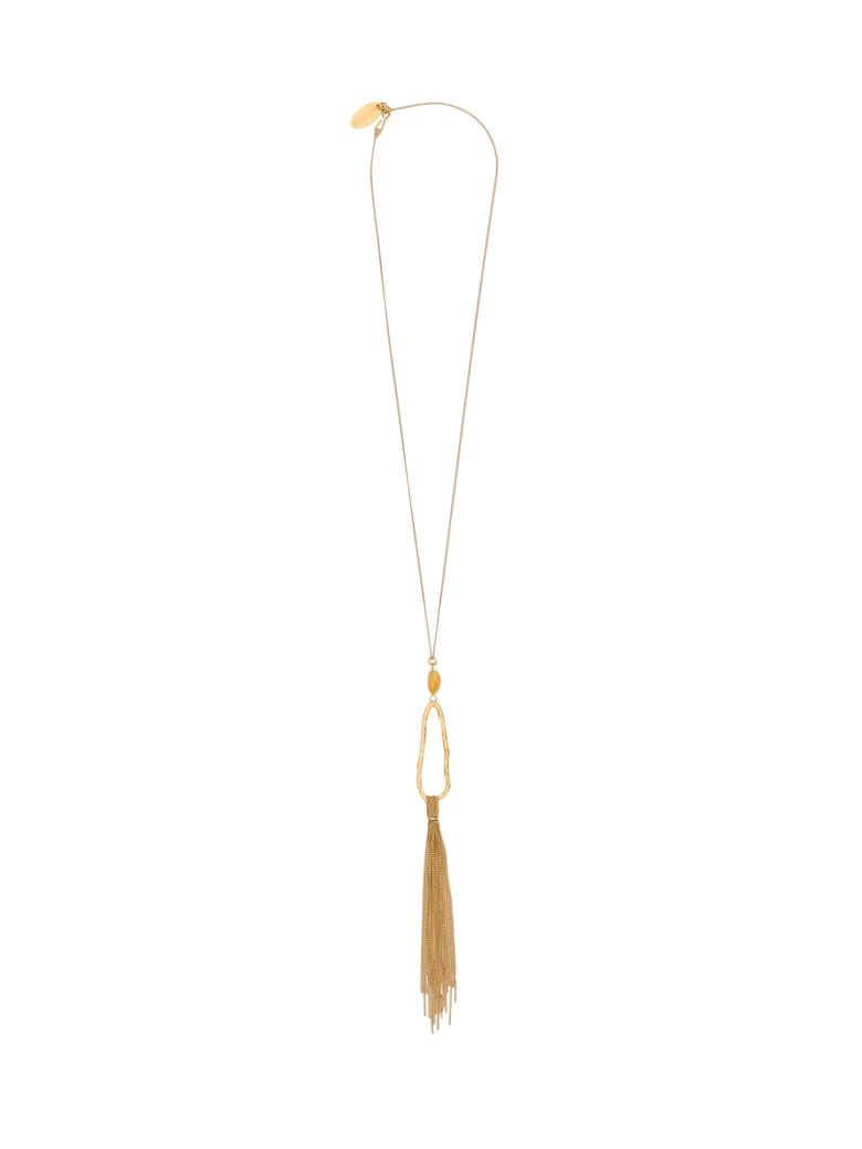 Forte_Forte Necklace With Quartz Charm And Tassel - Oro