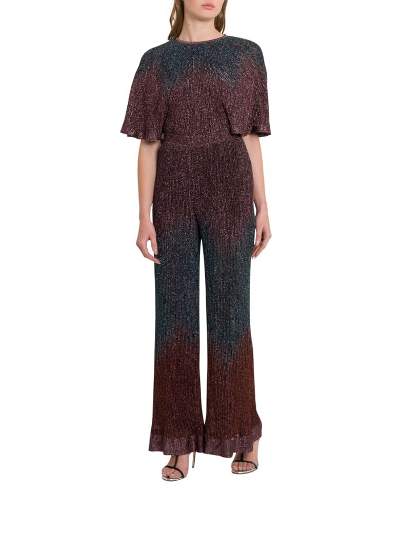 M Missoni Ribbed Lurex Knit Jumpsuit - Rosa
