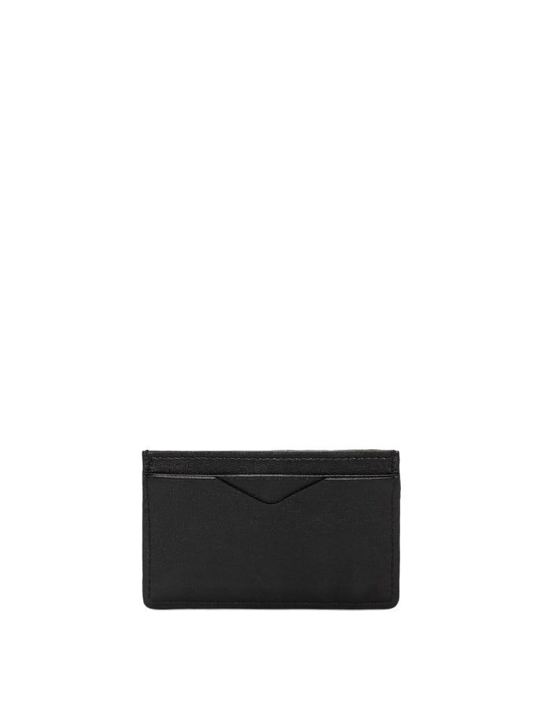 Alexander McQueen Rib Cage Embossed Card Holder - Black