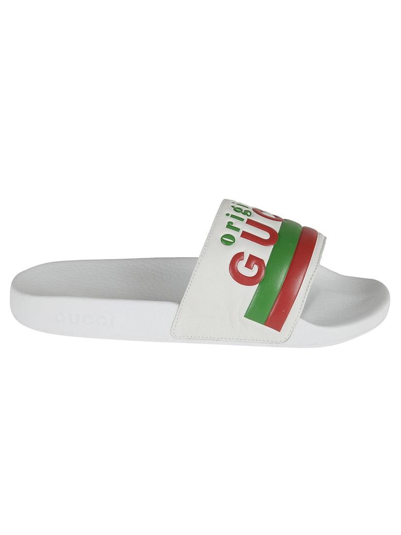 Gucci Classic Logo Sliders - Great White
