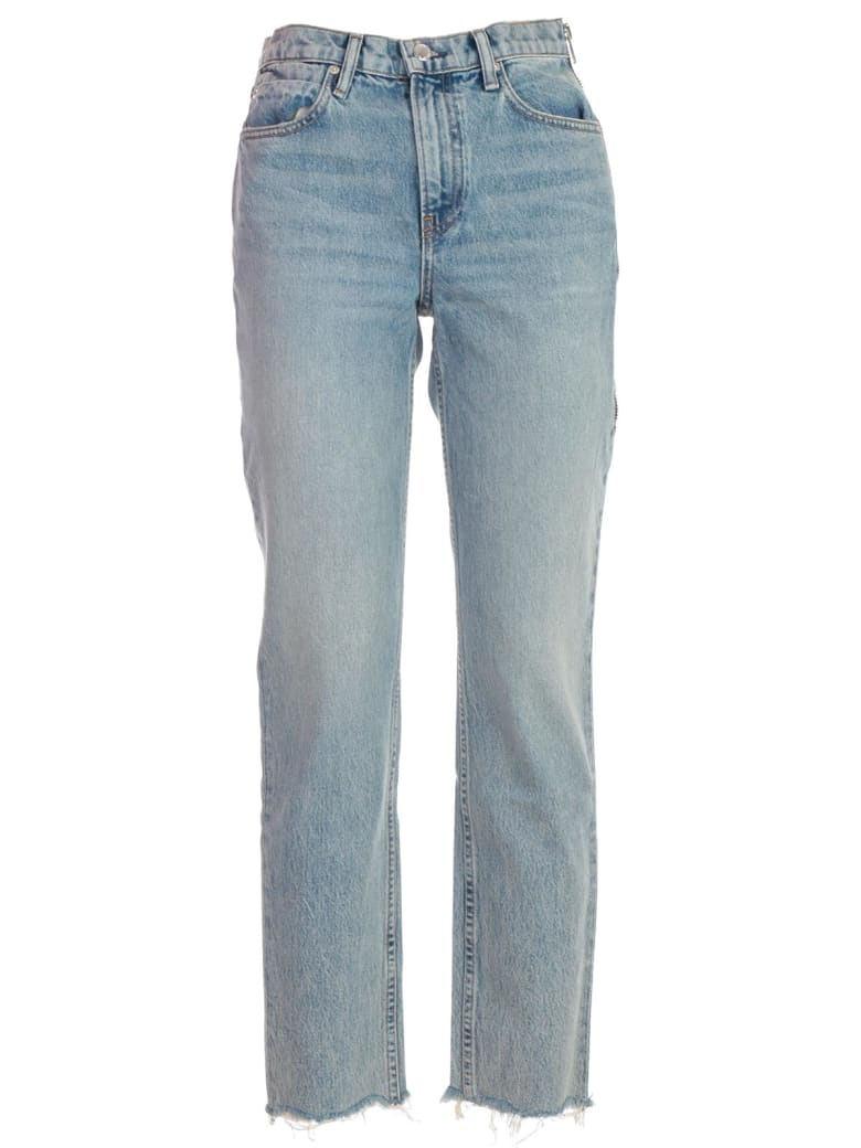 T by Alexander Wang Jeans Side Zip - Vintage Wash Indigo