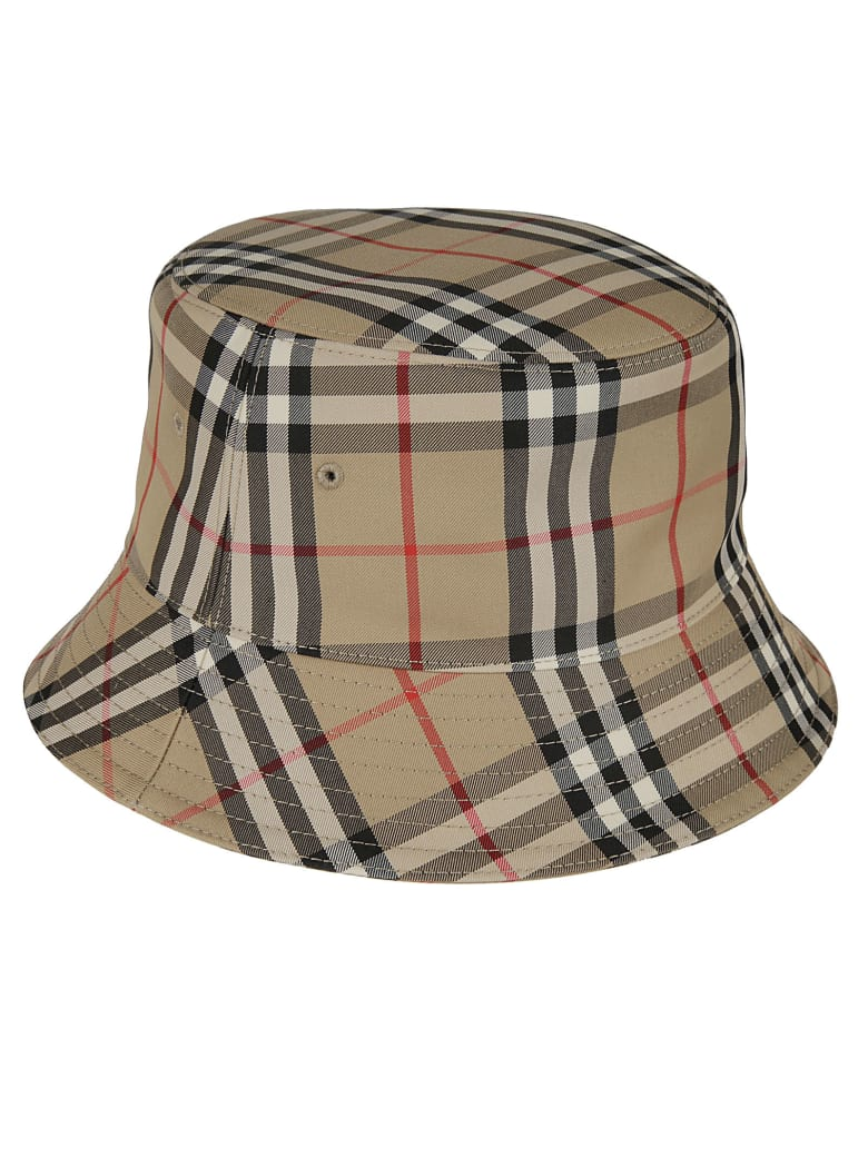 Burberry Heavy Cotton Check 2 Panel Bucket Hat - Archive Beige