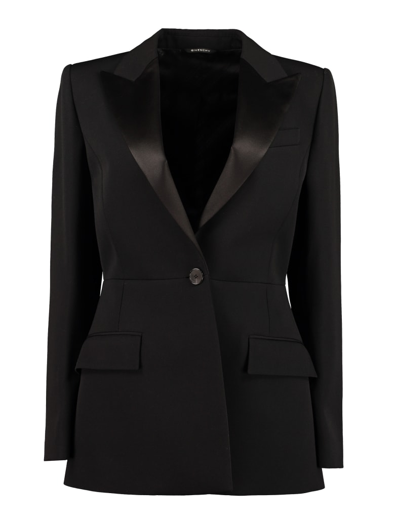 Givenchy Satin Lapels Blazer - black
