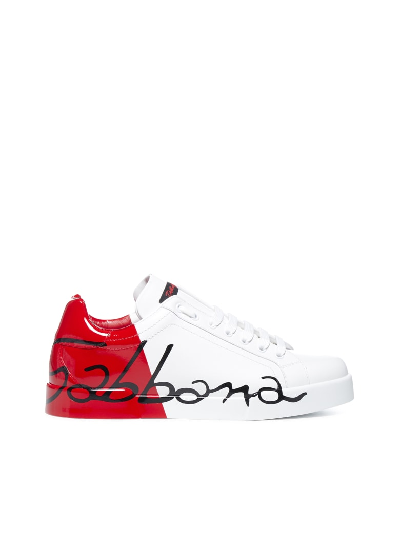 Dolce & Gabbana Sneakers - Bianco/rosso