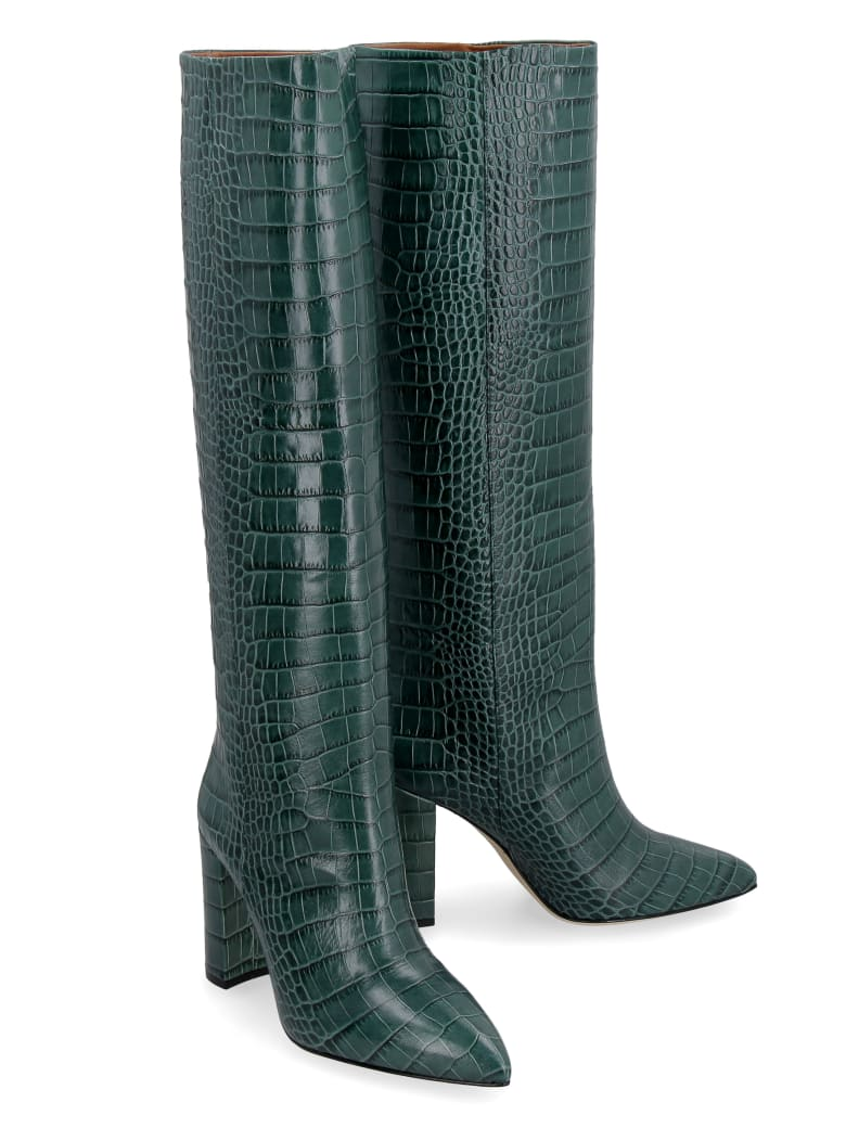 Paris Texas Leather Knee-boots - green