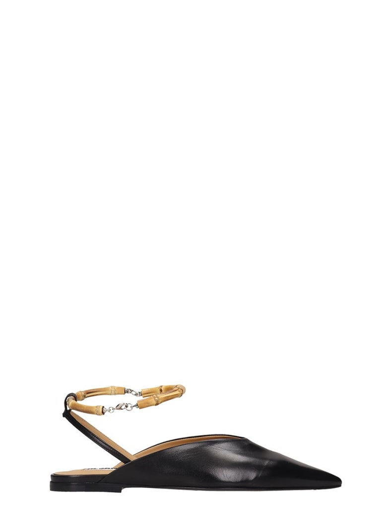 Jil Sander Loafers In Black Leather - black