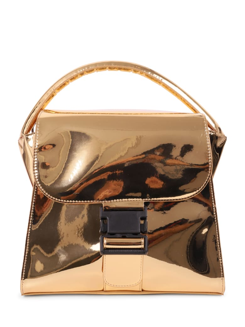 Zucca Gold Buckled Bag M - Gold