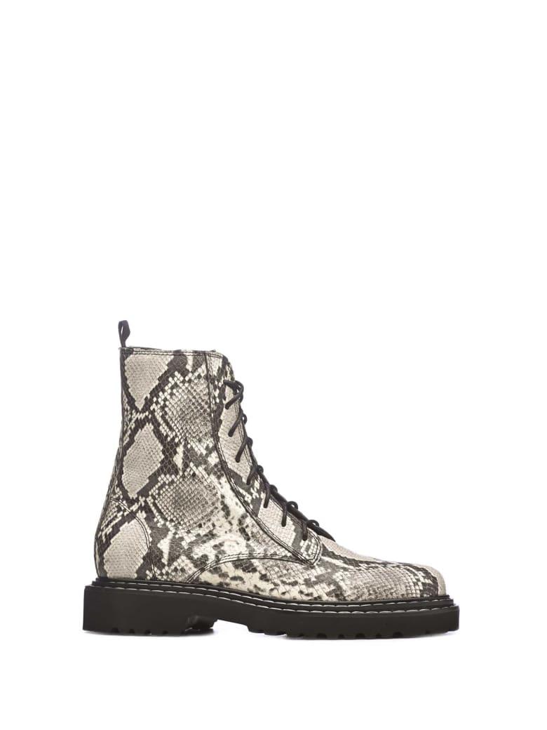 Vic Matié Vic Matié Reptile Printed Boots - BIANCO/NERO