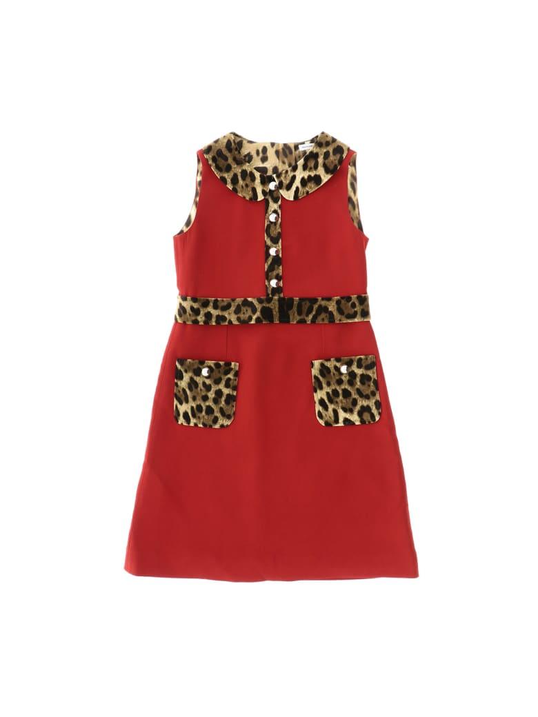 Dolce & Gabbana Abito Rosso Brillante - Rosso
