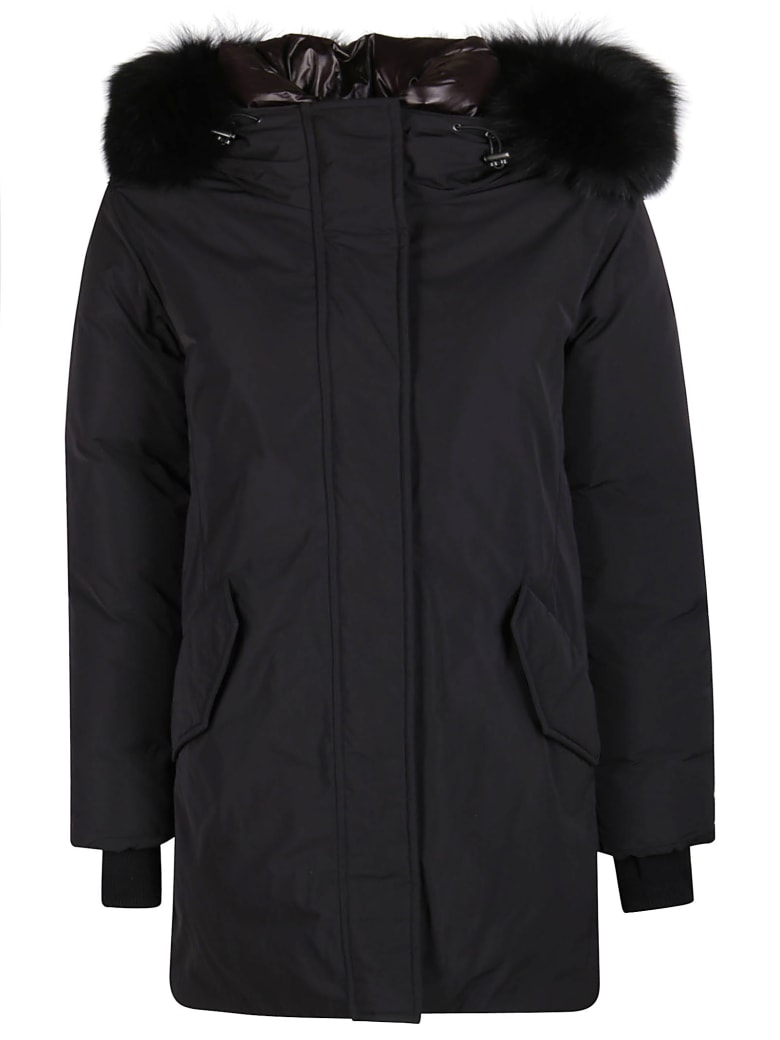 Woolrich Black Parka Coat - Black
