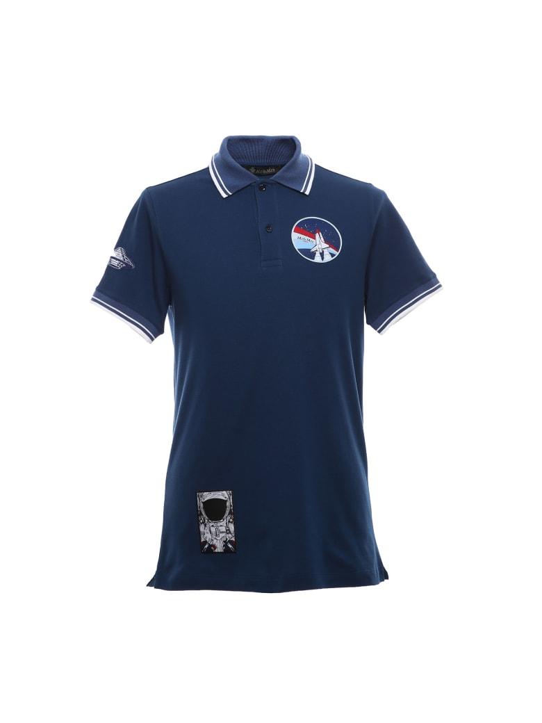 Mr & Mrs Italy Space-inspired Regular Polo For Man - DARK BLUE