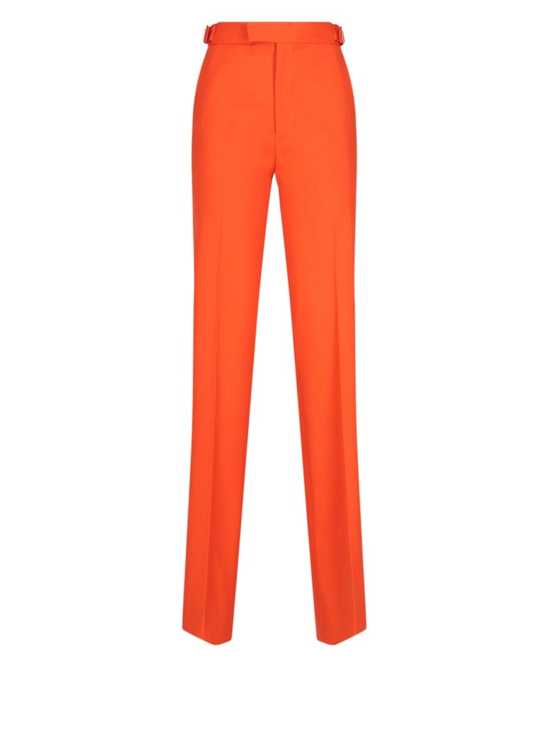 The Attico Palazzo Pants - Orange