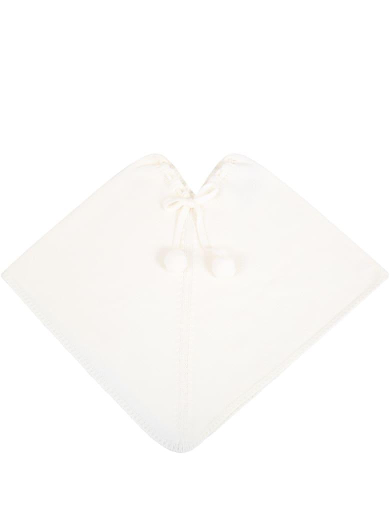Little Bear White Cape For Babygirl - White