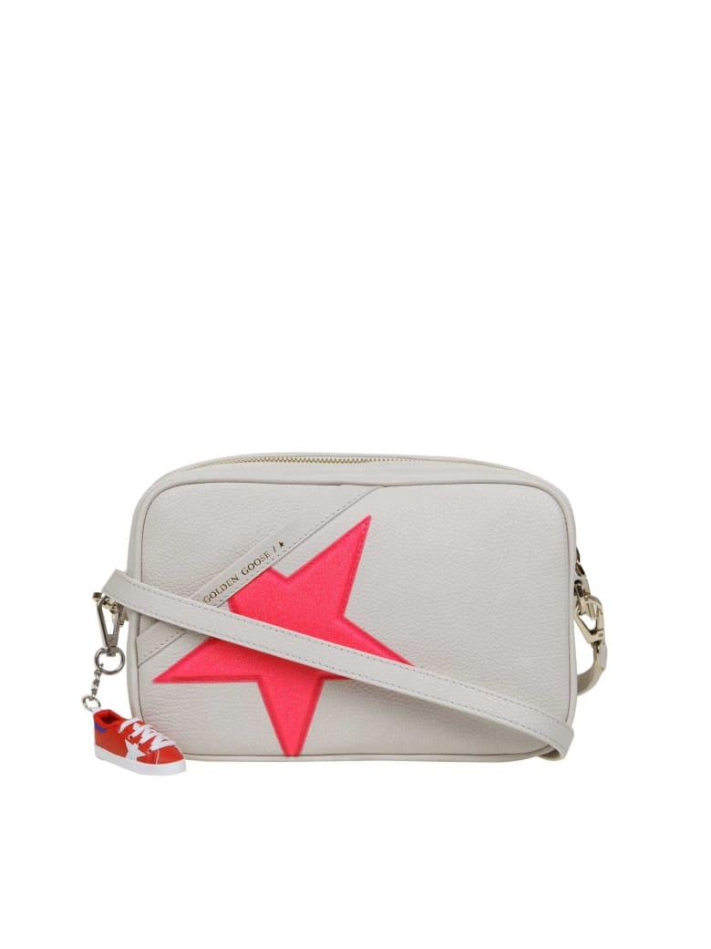 Golden Goose Star Bag Shoulder Bag In Grained Leather - White