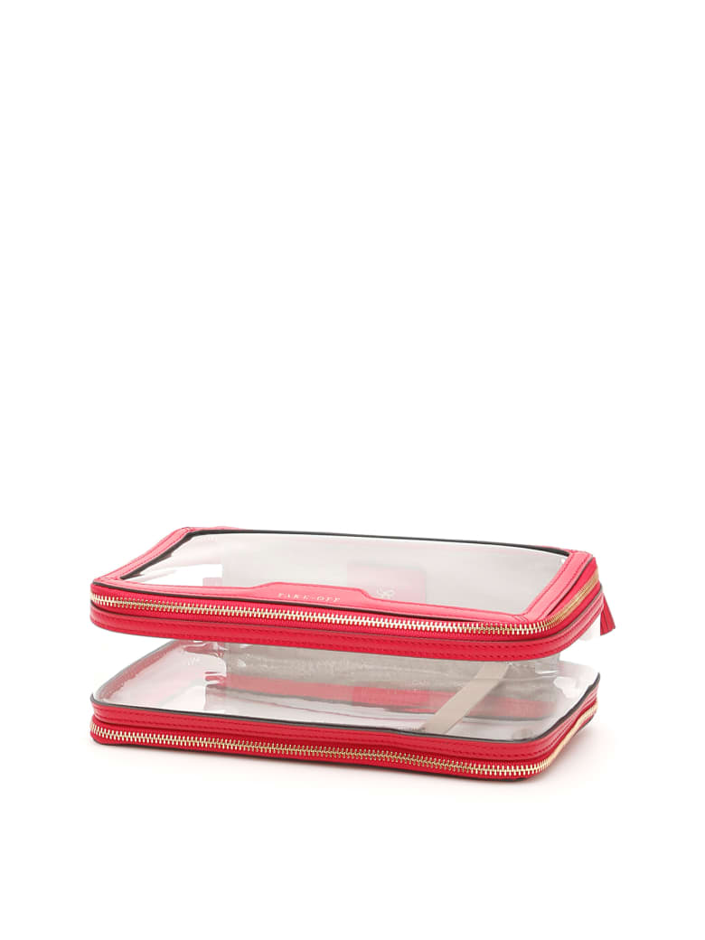 Anya Hindmarch In-flight Case - CLEAR BERRY (Fuchsia)