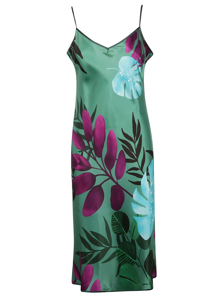 For Restless Sleepers Printed Dress - Fdo Verde