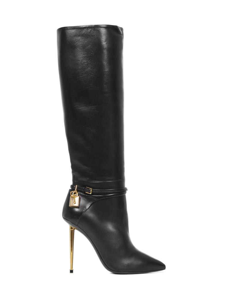 Tom Ford Padlock Boots - Black
