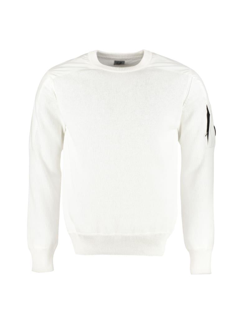 C.P. Company Cotton Crew-neck Sweater - panna