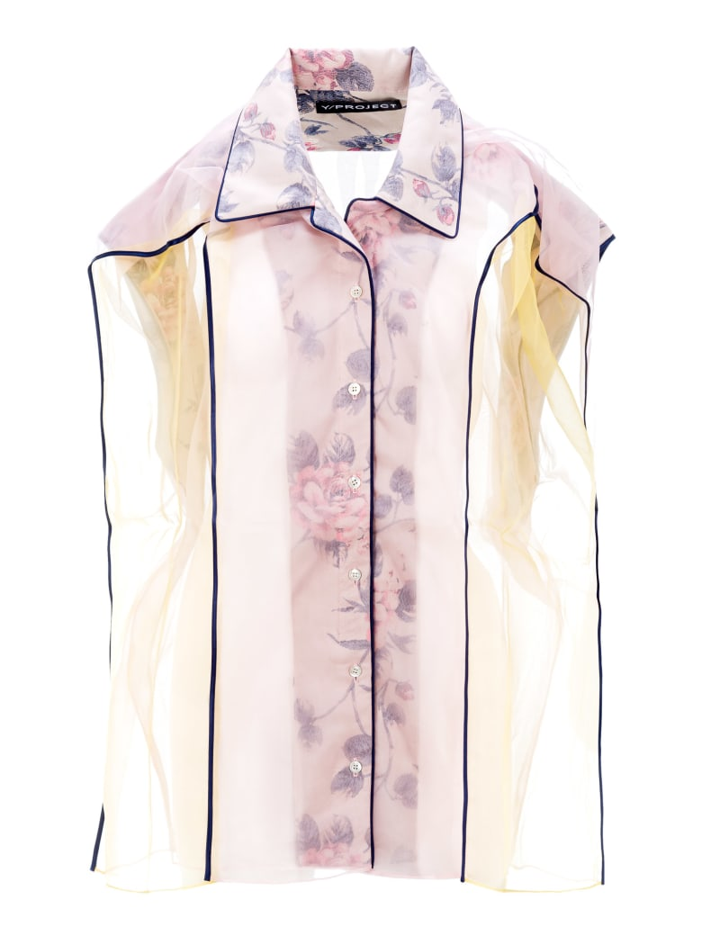 Y/Project Silk Shirt - LIGHT YELLOW + FLOWER
