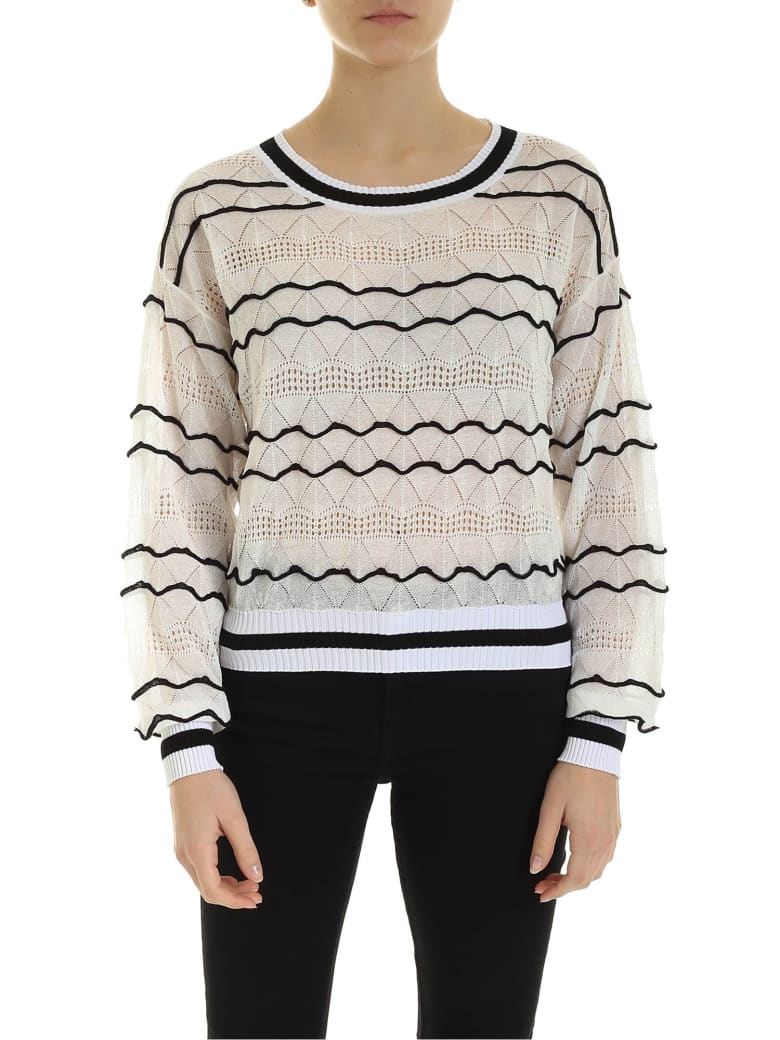 Ballantyne Embossed Sweater - White