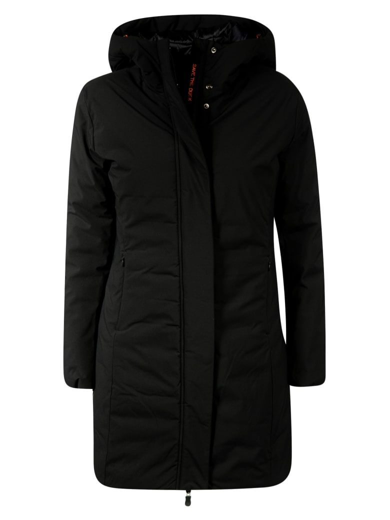 Save the Duck Concealed Closure Parka - Black