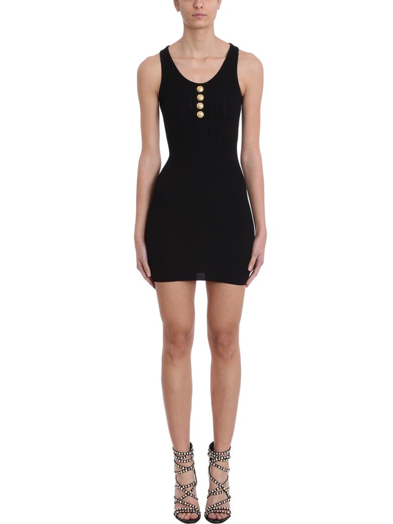 Balmain Black Knit Dress - black