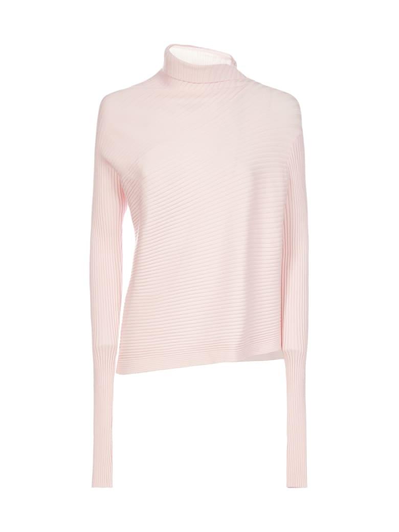 Marques'Almeida Draped Viscose-knit Turtleneck - Pink