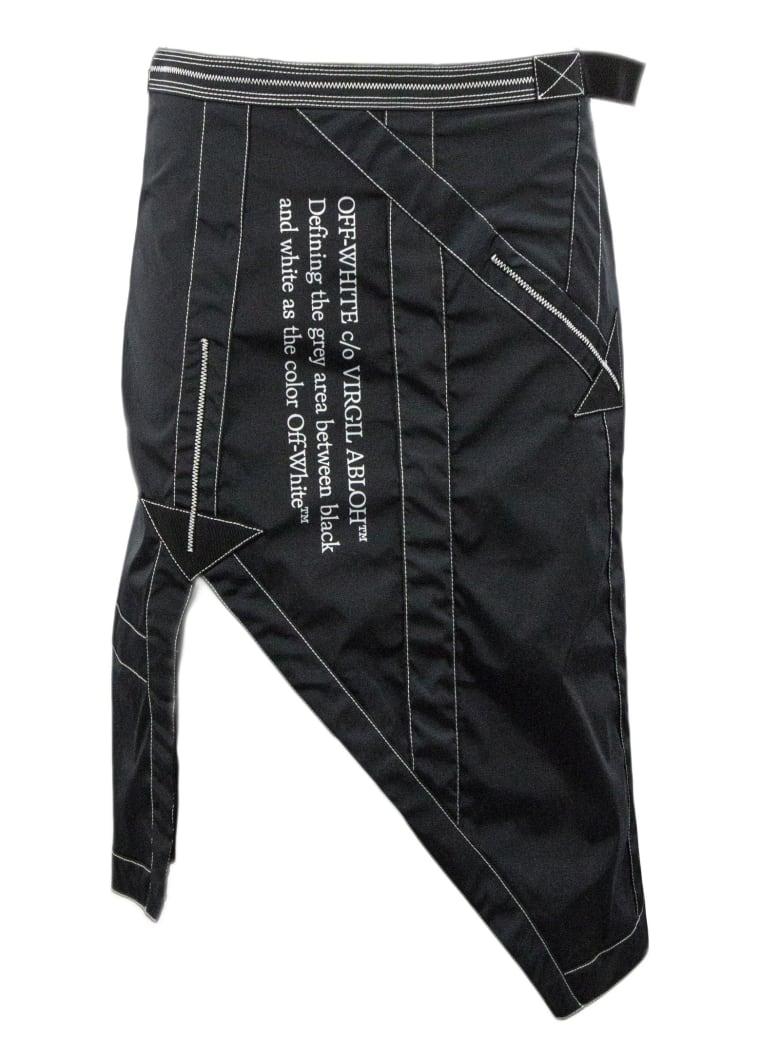Off-White Nylon Mid-length Skirt In Black - Nero