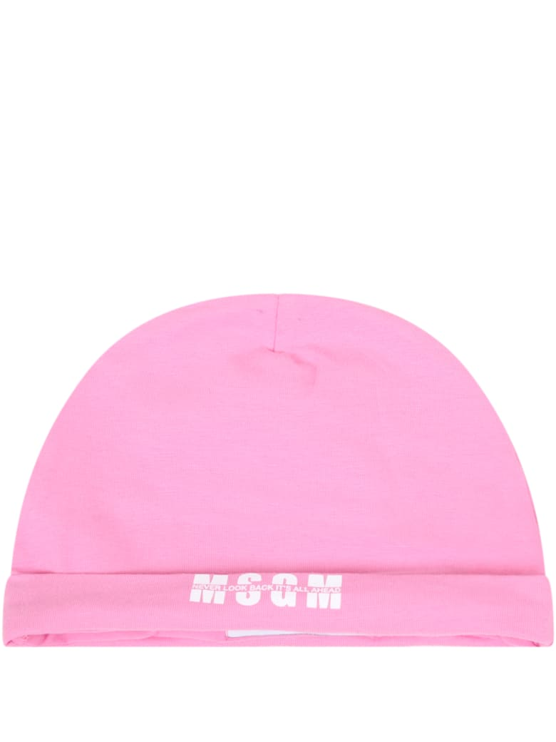 MSGM Pink Set For Babygirl With Logo - Rosa
