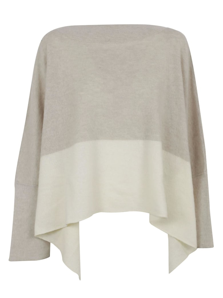 Dusan Over Neck Sweater - Natural