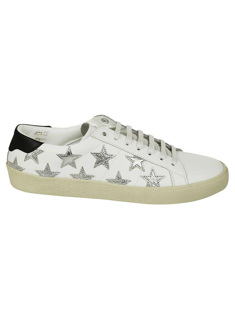 Saint Laurent Signature California Stars Sneakers - Blanc Optic Silver Black