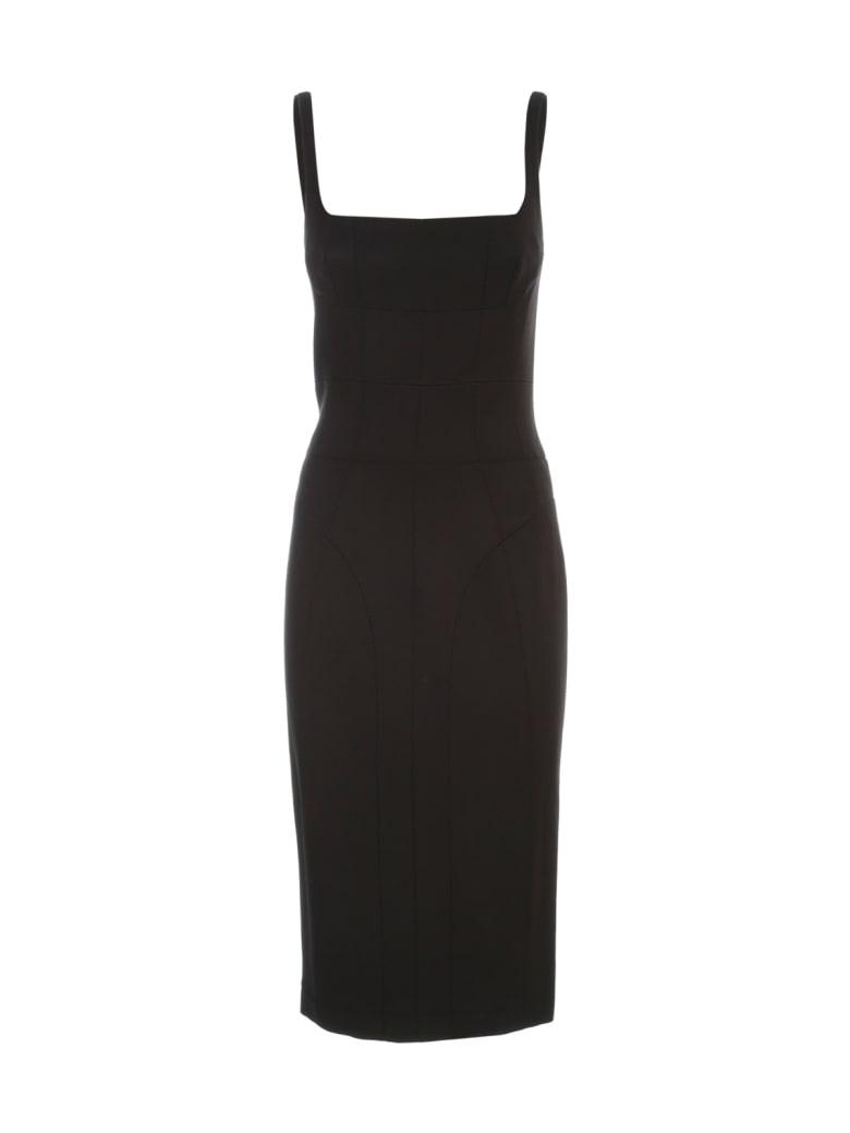 Giovanni Bedin Wool Sleeveless Tubino Dress - Black