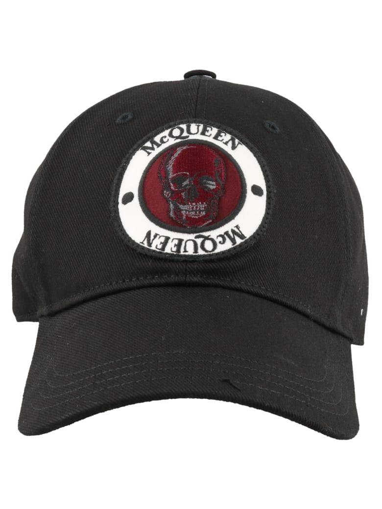 Alexander McQueen Badge Baseball Cap - Black