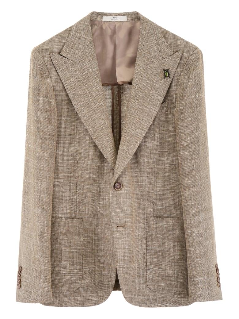 CC Collection Corneliani Blazer With Peak Lapels - SAND (Beige)