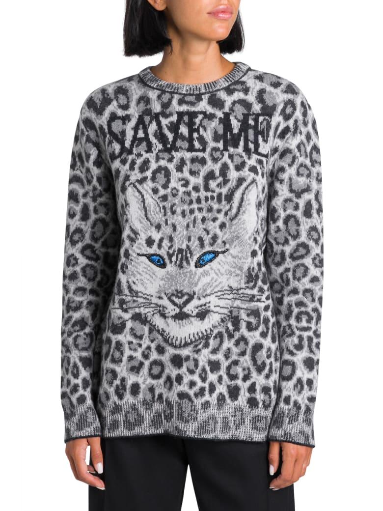Alberta Ferretti Save Me Oversized Sweater - Grigio