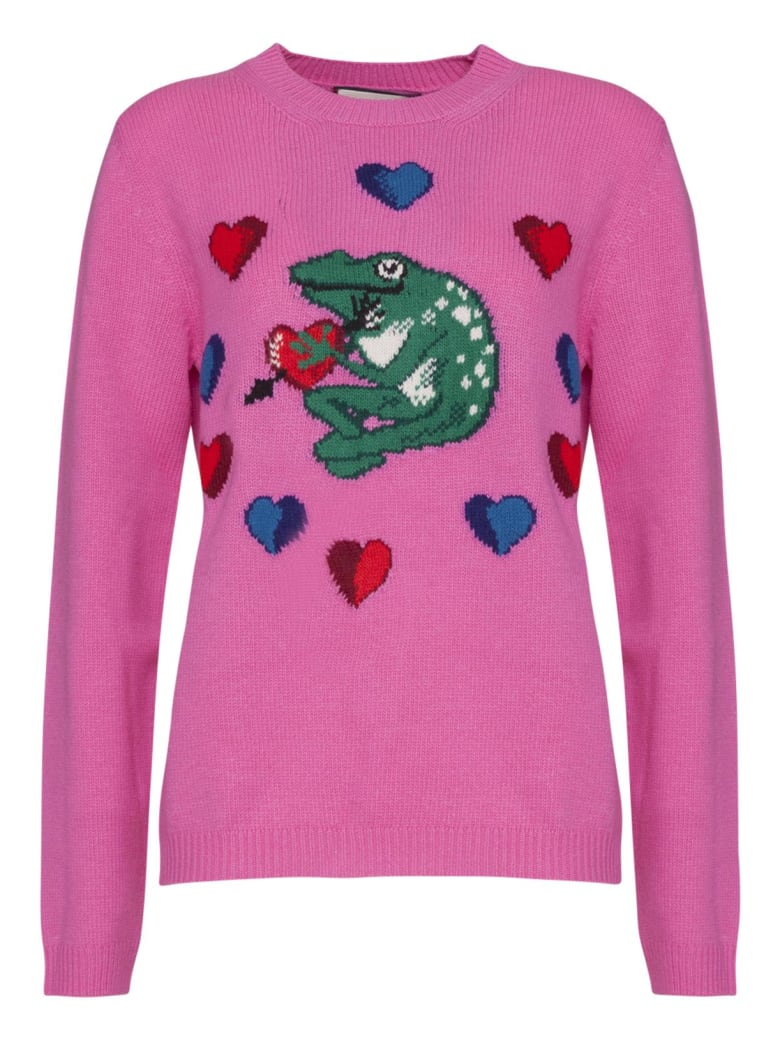 Gucci Logo Inlaid Sweater In Pink - ROSA