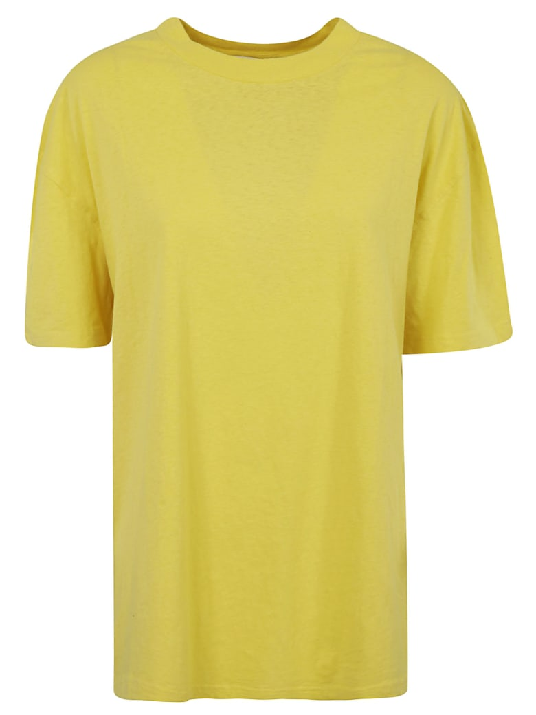 Acne Studios Back Logo Detail T-shirt - Yellow
