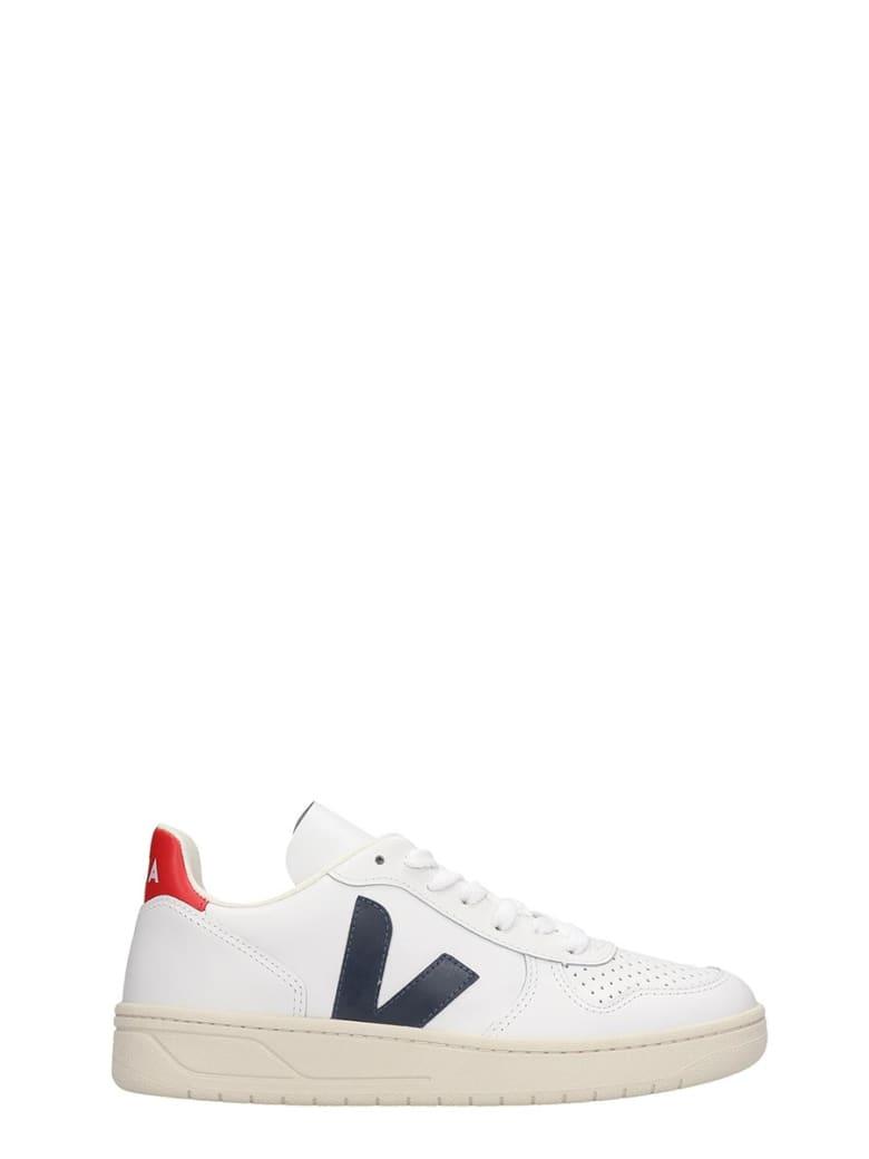 Veja V-10 Sneakers In White Leather - white