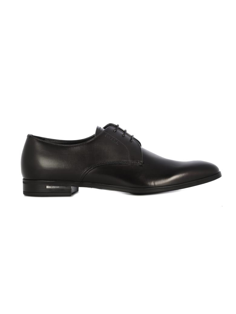 Prada Laced Logo Shoes/allacciata - Black