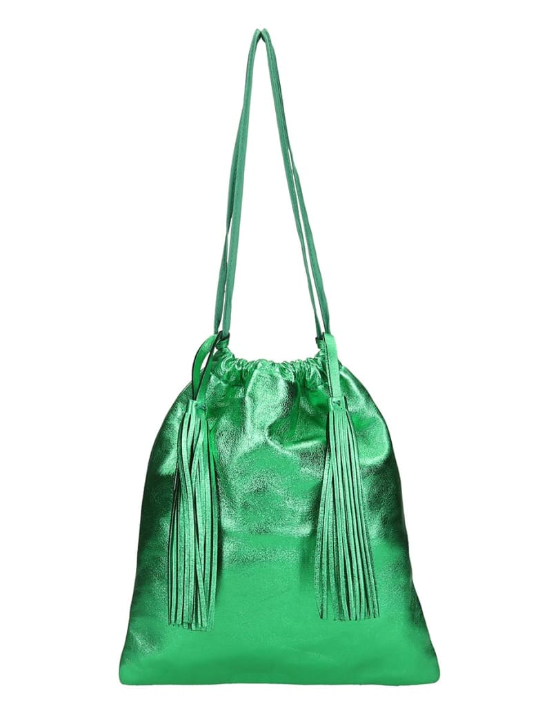 The Attico Clutch In Green Leather - green