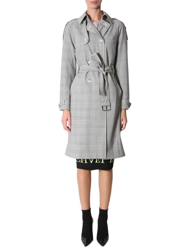 MICHAEL Michael Kors Stretch Wool Trench - GRIGIO
