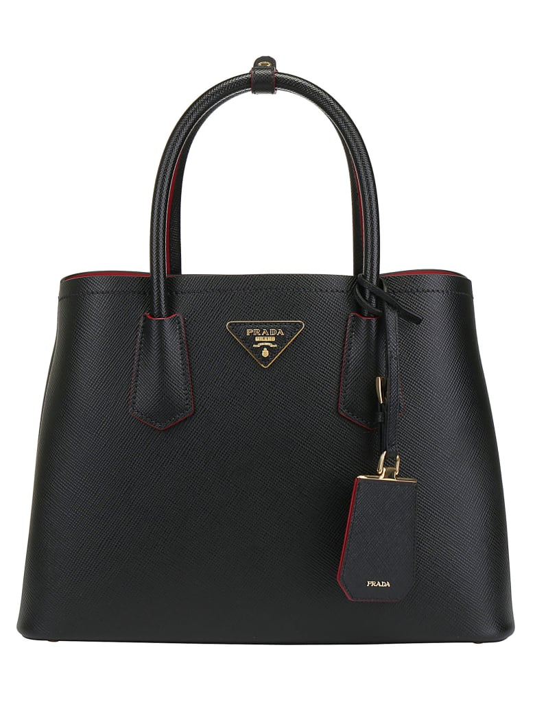 Prada Shopping Bag - Nero+fuoco