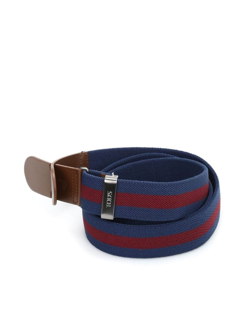 Tod's Belt - Blue/red