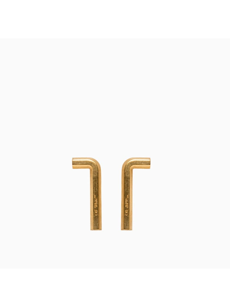Off-White Small Allen Earrings Owod065f20met001 - Gold No Color