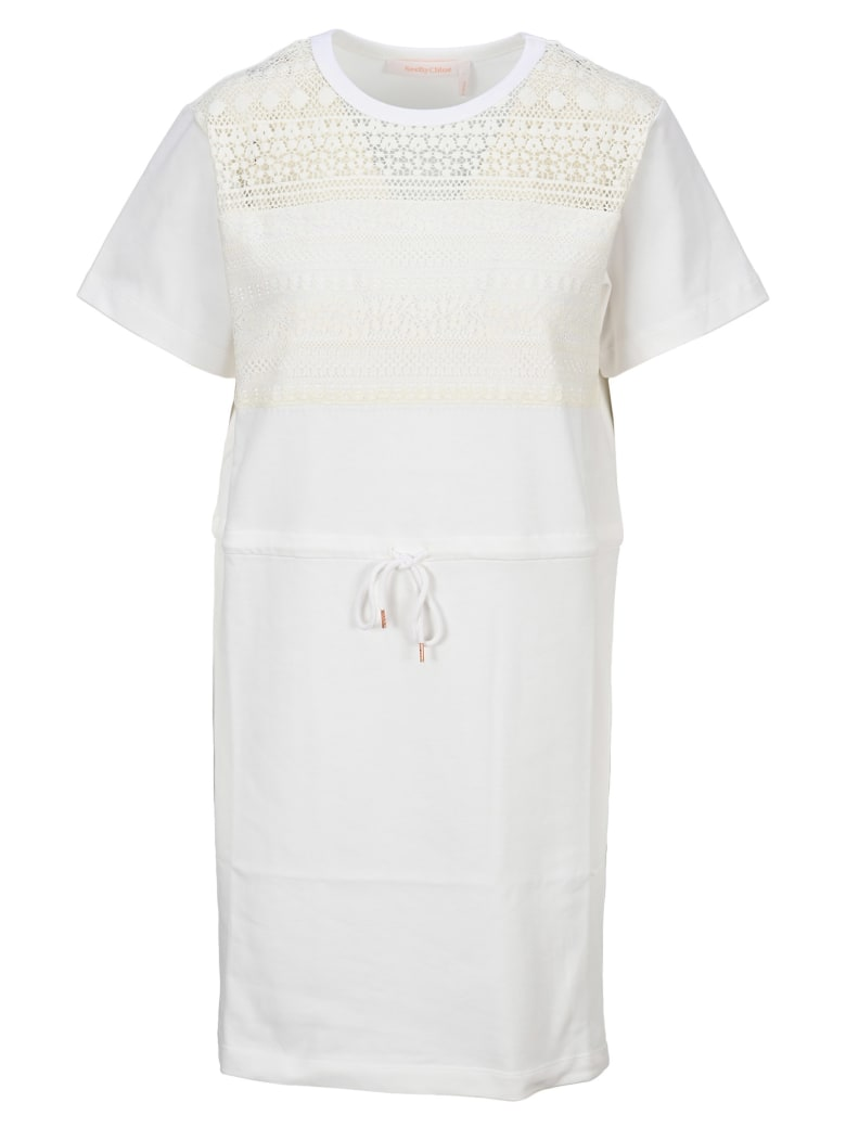 See by Chloé See By Chloe' Drawstring Dress - ICONIC MILK