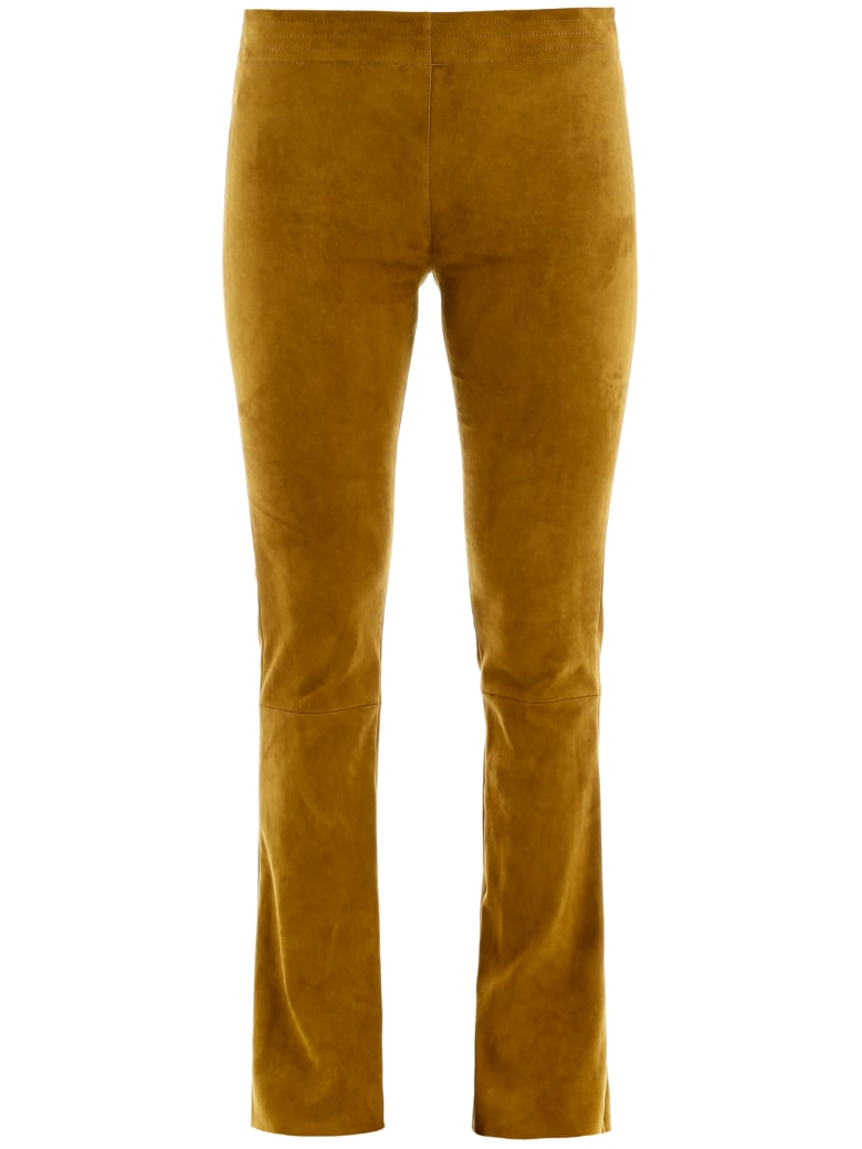 DROMe Suede Trousers - WEED (Yellow)